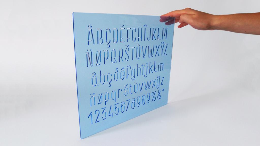 Joel designs his own typeface