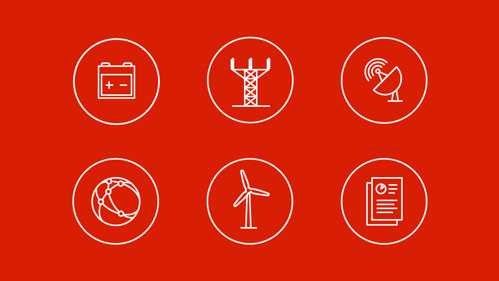 Icon designs for energy client